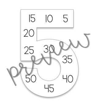 Multiplication Skip-Count Posters and Touch Cards