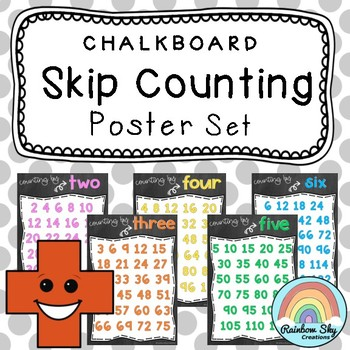 Skip Counting Posters {Chalkboard theme}