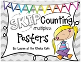 Skip Counting Posters Gray Chevron