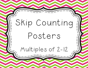 Skip Counting Posters: Multiples 2-12 PRIMARY FONT {Free}