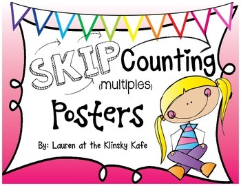 Skip Counting Posters Pink Ombre
