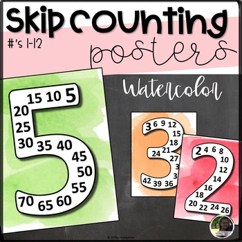 Skip Counting Posters- Watercolor