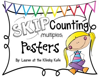 Skip Counting Posters White