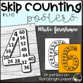 Skip Counting Posters- White Farmhouse