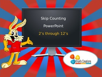 Skip Counting PowerPoint (2's through 12's)