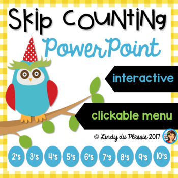 Skip Counting PowerPoint (counting in 2, 3, 4, 5, 6, 7, 8, 9, &10's)