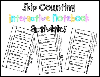 Skip Counting Powerpoint, Guided Note Taking, and Interactive Notebook