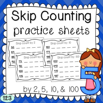 Skip Counting Practice Sheets