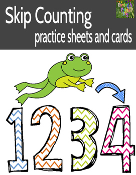 Skip Counting Practice (Worksheets and Number Cards for Pocket Charts)