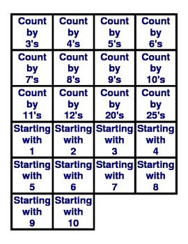 Skip Counting (Practicing Mental Math)