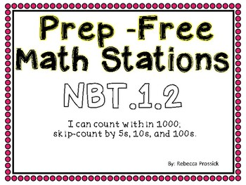 Skip Counting Prep-Free Stations