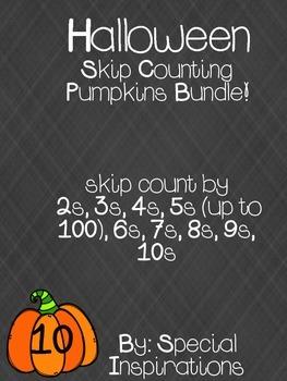 Skip Counting Pumpkins Bundle! 2-10