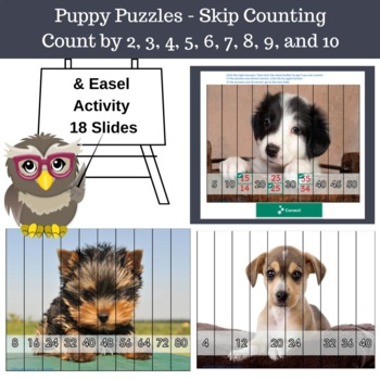 skip counting puppy puzzles count by 2 3 4 5 6 7 8 9 and 10. Black Bedroom Furniture Sets. Home Design Ideas