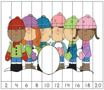 Skip Counting Puzzle Bundle