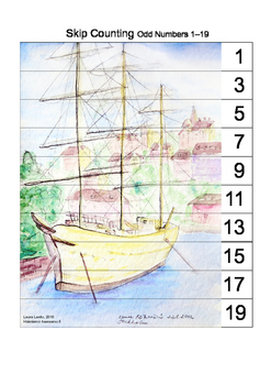 Skip Counting Puzzle - Odd Numbers 1 - 19
