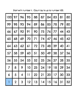 Skip Counting Puzzle Practice Sheets