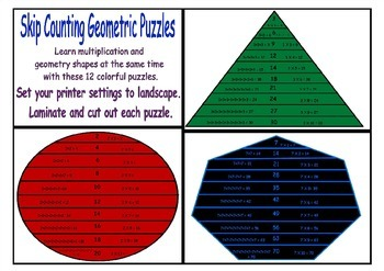 Skip Counting Puzzles Sample Preview