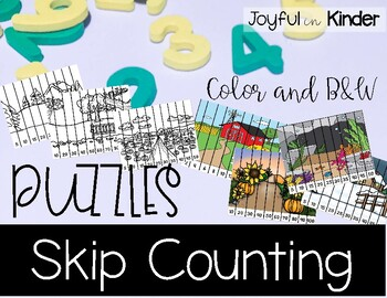 Skip Counting Puzzles 2's, 5's, and 10's