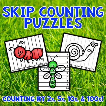Skip Counting Puzzles - Bugs and Insects
