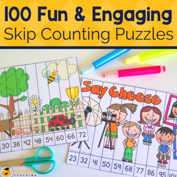 Skip Counting Puzzles Bundle