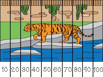 Zoo Skip Counting Puzzles Count by 2's, 5's, and 10's