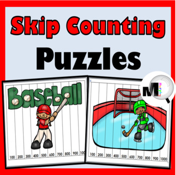 Skip Counting Puzzles -Skip Counting by 2s – 12s & 100s -M