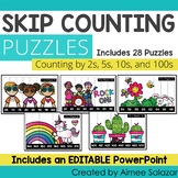 Skip Counting Puzzles: Counting by 2s, 5s, 10s, and 100s