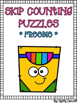 Skip Counting Puzzles - Crayons FREEBIE