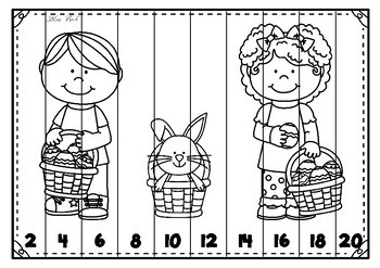 Skip Counting Puzzles- Easter Theme