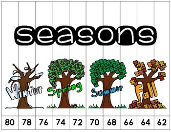 Skip Counting Puzzles Forwards and Backwards by 2s, 5s, 10s Weather Theme
