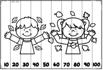 Skip Counting Puzzles- Season BUNDLE