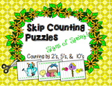Skip Counting Puzzles (Spring, St. Pat's, & Easter)--Count