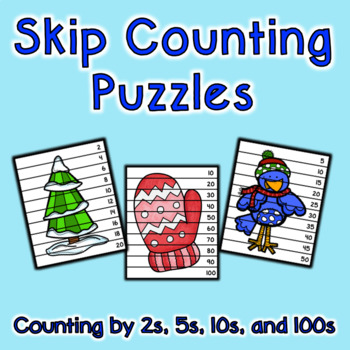 Skip Counting Puzzles - Winter