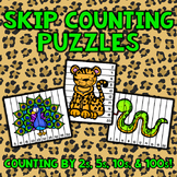 Skip Counting Puzzles - Zoo Animals