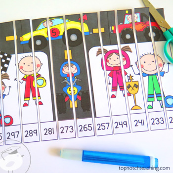 Skip Counting Puzzles by 6, 7, 8, 9, 100