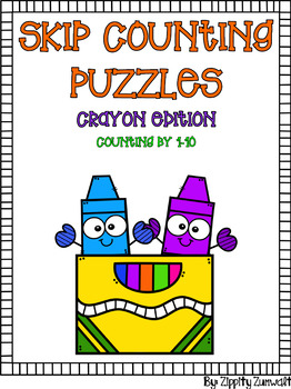 Skip Counting Puzzles - Crayon Buds