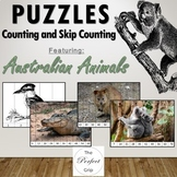 Skip Counting Puzzles featuring Australian Animals