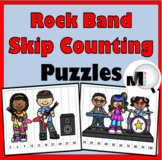 Skip Counting Puzzles for Multiplication by 2 - 12 and 100