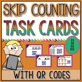 Skip Counting QR Code Task Cards