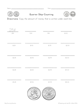 Skip-Counting Quarters
