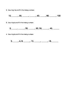 Skip Counting Quiz