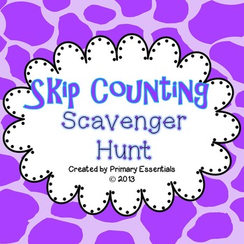 Skip Counting Scavenger Hunt