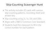 Skip-Counting Scavenger Hunt