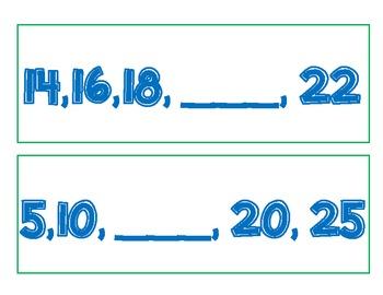 Skip Counting Scavenger Hunt (2s, 5s, 10s, 100s)