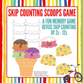 Skip Counting Scoops Game: Target Counting by 2s through to 12s