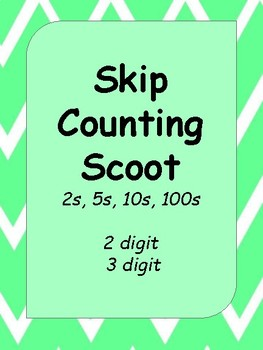 Skip Counting Scoot 2s, 5s, 10s, 100s