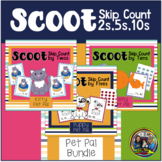Skip Counting  Scoot Game Bundle-Two's,Five's and Ten's