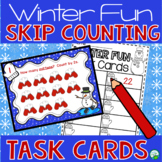 Skip Counting Scoot Game and Math Center Activity - Winter Fun!