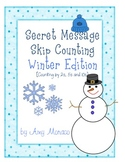 Skip Counting Secret Messages - Winter Edition {Counting b