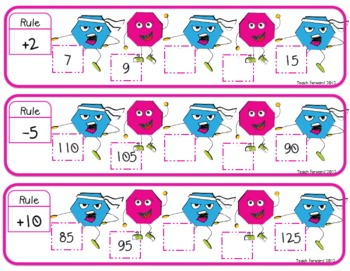 Skip Counting Shapes Math Center